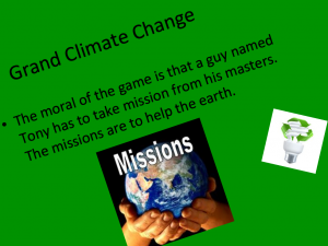 Grand Climate Change Video Game